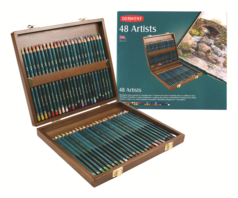 Artists Pencils 48ks dřevěný kufřík DERWENT