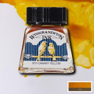 123 Canary yellow 14ml Drawing ink Winsor and Newton
