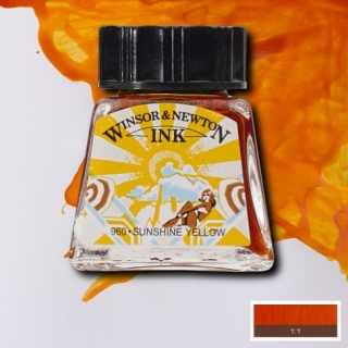 633 Sunshine yellow 14ml Drawing ink Winsor and Newton