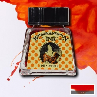 449 Orange 14ml Drawing ink Winsor and Newton