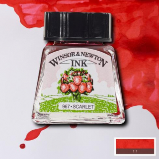 601 Scarlet 14ml Drawing ink Winsor and Newton