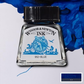 032 Blue 14ml Drawing ink Winsor and Newton