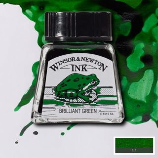 046 Brilliant green 14ml Drawing ink Winsor and Newton