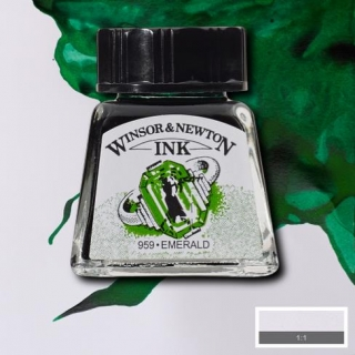 235 Emerald 14ml Drawing ink Winsor and Newton