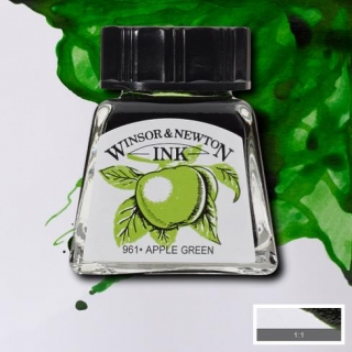 011 Apple green 14ml Drawing ink Winsor and Newton
