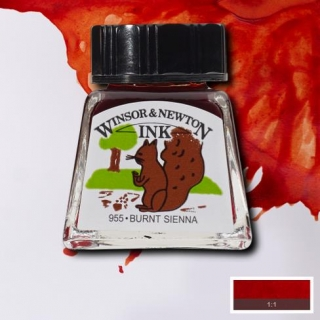 074 Burnt siena 14ml Drawing ink Winsor and Newton