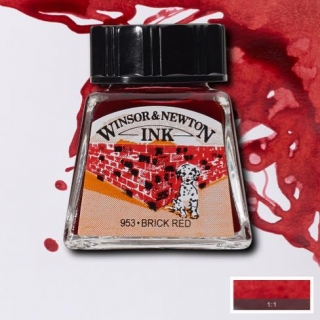 040 Brick red 14ml Drawing ink Winsor and Newton