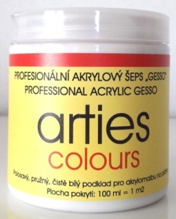 Akrylový šeps GESSO 250ml ARTIES COLOURS